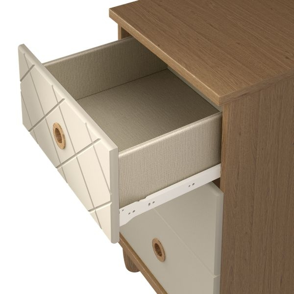 Camilla Alabaster Chest of Drawer - 3 Drawer Narrow