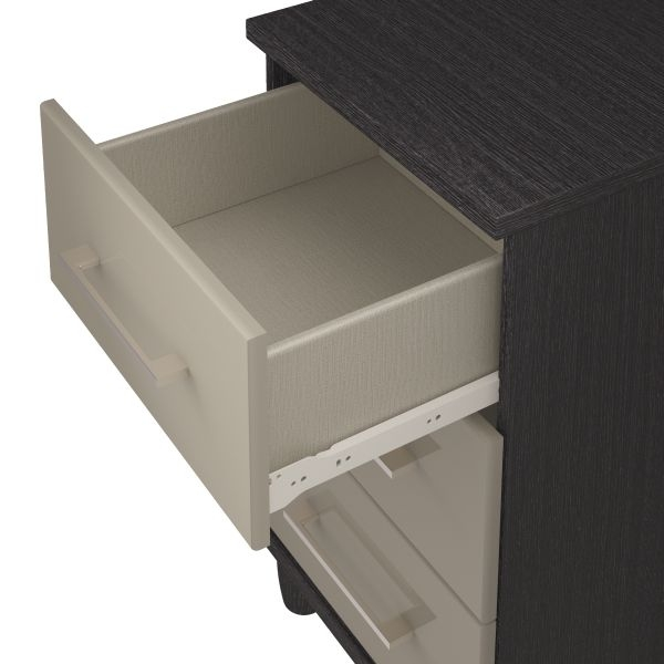 KT Furniture Corsica Grey Chest of Drawer - 3 Drawer Large