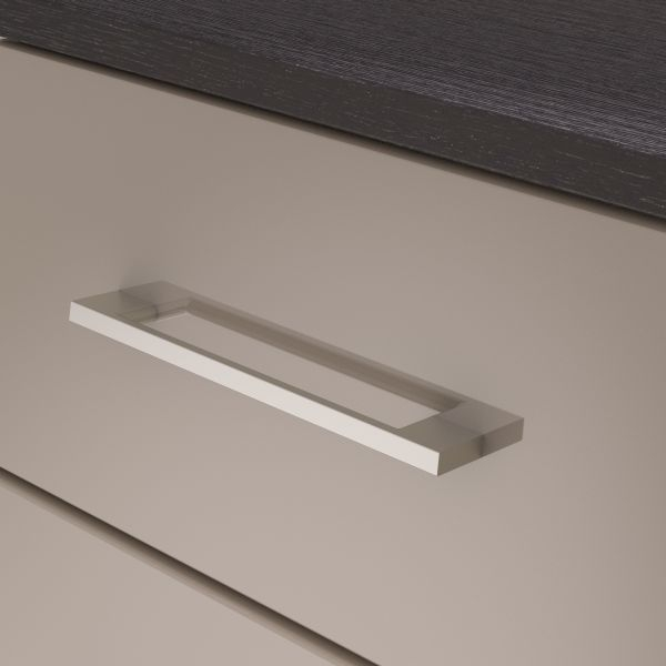 Corsica Grey Chest of Drawer - 3 Drawer Narrow