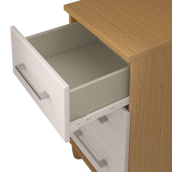KT Furniture Corsica White Chest of Drawer - 3 Drawer Large