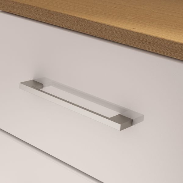 Corsica White Chest of Drawer - 5 Drawer Narrow