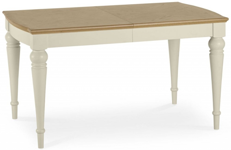Bentley Designs Montreux Pale Oak and Antique White Dining Table - 4-6 Extending