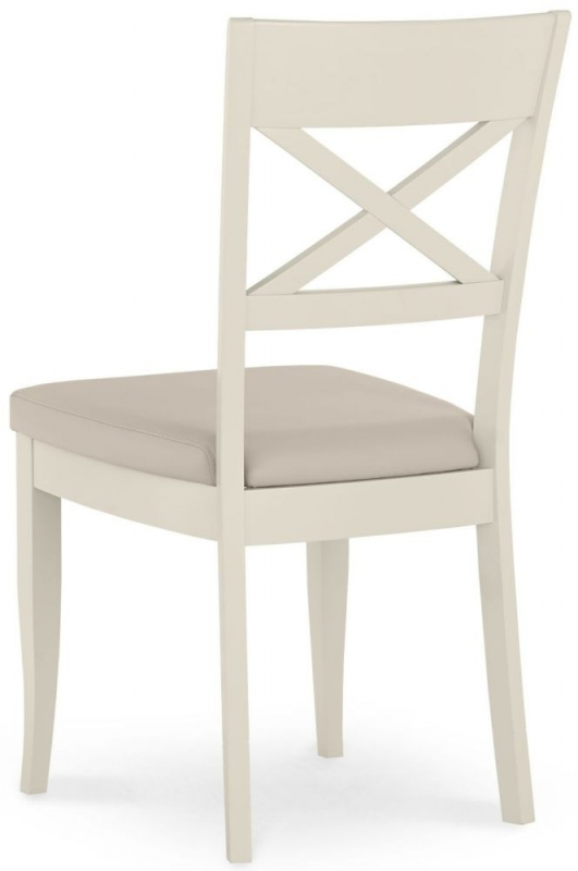 Bentley Designs Montreux Antique White Dining Chair - X Back (Pair)