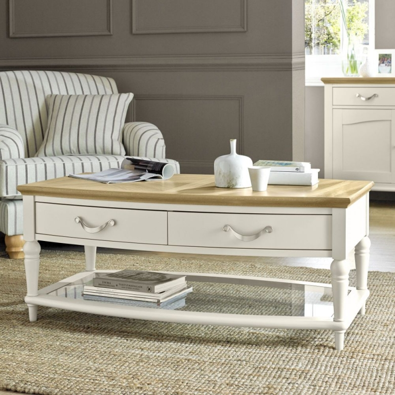 Bentley Designs Montreux Pale Oak and Antique White Coffee Table