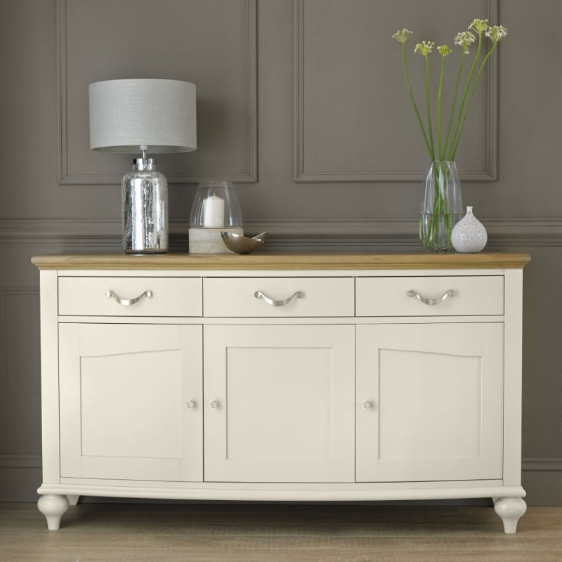 Bentley Designs Montreux Pale Oak and Antique White Sideboard - Wide