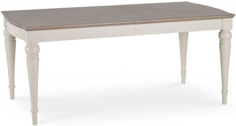 Bentley Designs Montreux Grey Washed Oak and Soft Grey Dining Table - 6-8 Extending
