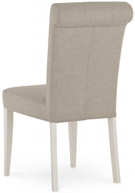 Bentley Designs Montreux Soft Grey Dining Chair - Upholstered Fabric (Pair)