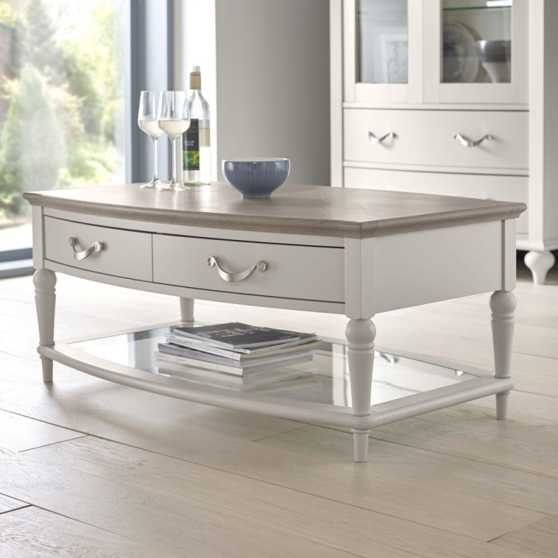Bentley Designs Montreux Grey Washed Oak and Soft Grey Coffee Table