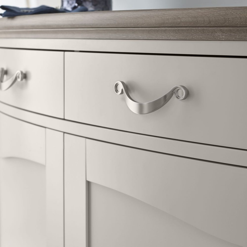 Bentley Designs Montreux Grey Washed Oak and Soft Grey Sideboard - Narrow