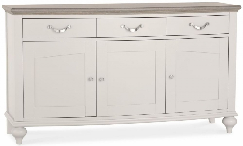 Bentley Designs Montreux Grey Washed Oak and Soft Grey Sideboard - Wide