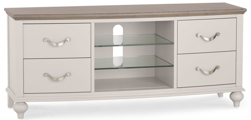 Bentley Designs Montreux Grey Washed Oak and Soft Grey Entertainment Unit