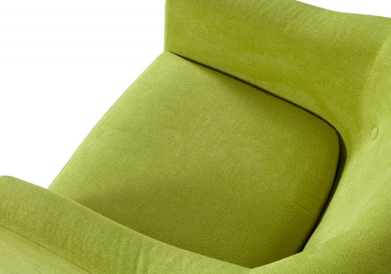 Serene Evie Green Fabric Chair