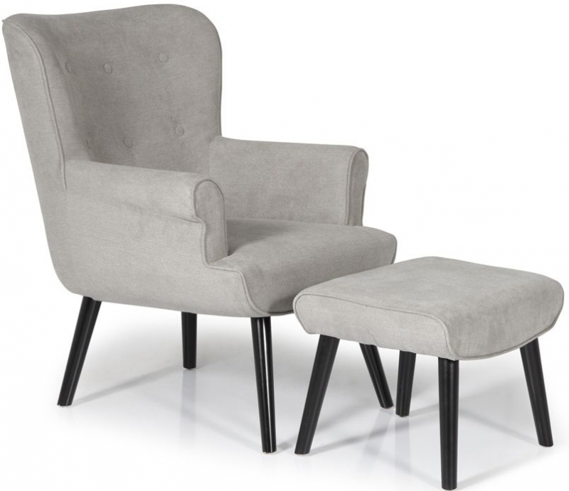 Serene Oban Grey Fabric Chair