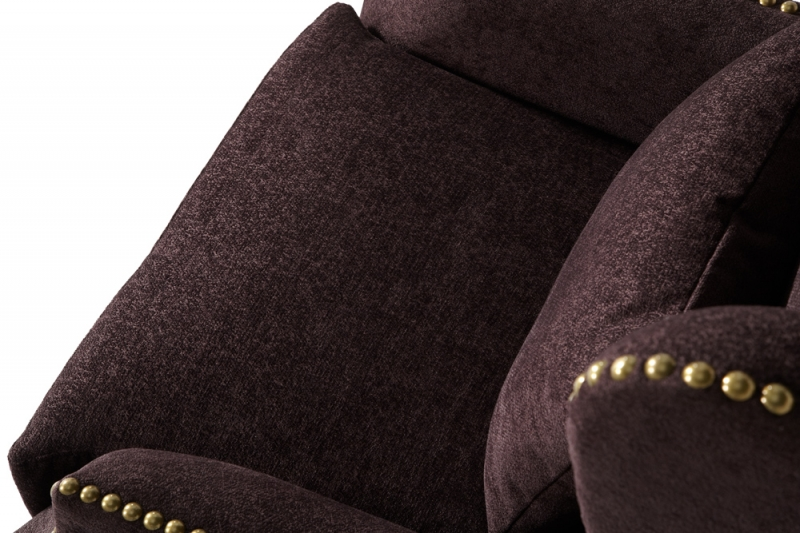 Serene Stirling Aubergine Fabric Chair