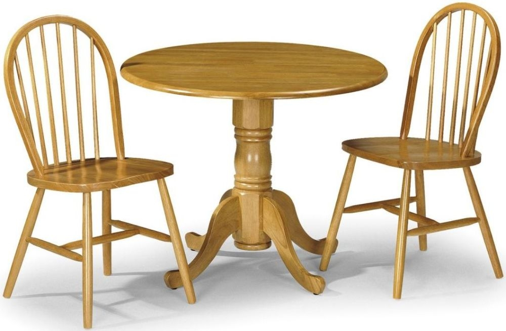 Buy Julian Bowen Dundee Round Drop Leaf Dining Table 91cm Online