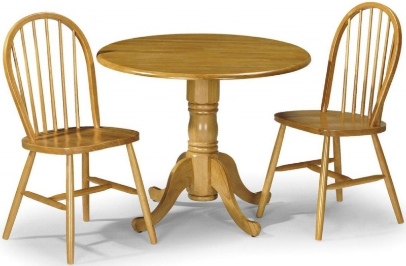 Julian Bowen Dundee Round Drop Leaf Dining Table