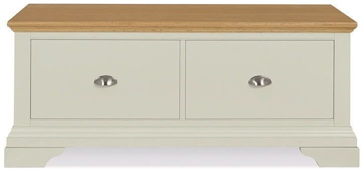 Bentley Designs Hampstead Soft Grey and Oak Blanket Box