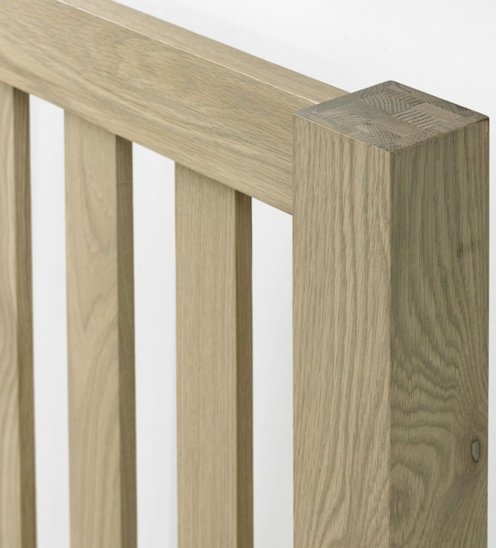 Bentley Designs Turin Aged Oak Bedstead - Slatted Low Footend