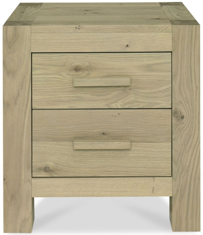 Bentley Designs Turin Aged Oak Nightstand - 2 Drawer