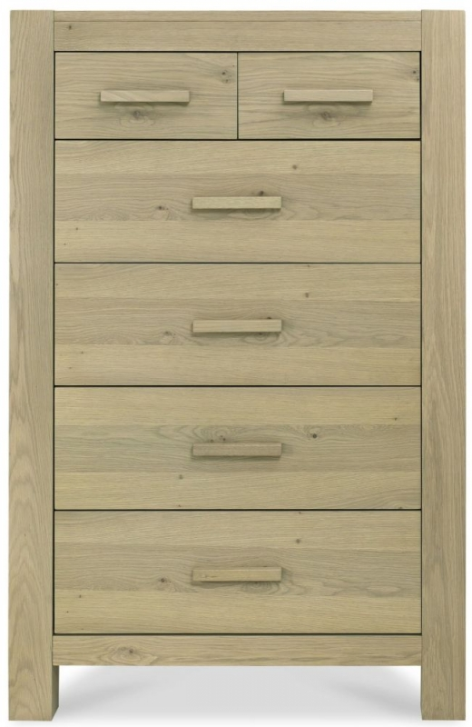 Bentley Designs Turin Aged Oak Chest of Drawer - 4+2 Drawer