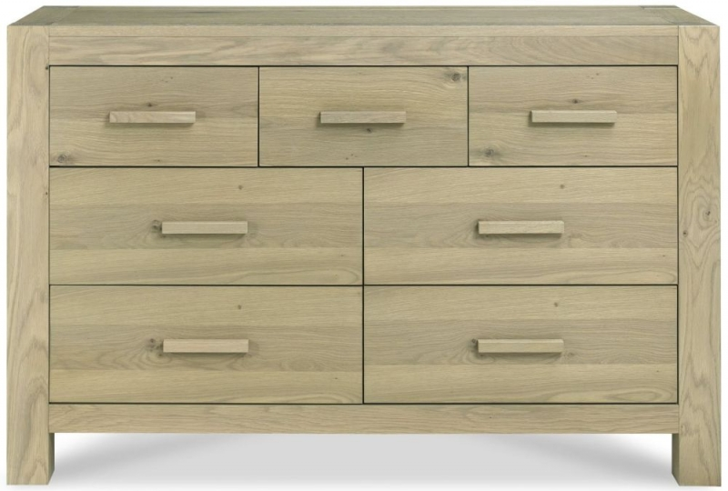 Bentley Designs Turin Aged Oak 4+3 Drawer Chest - EOL