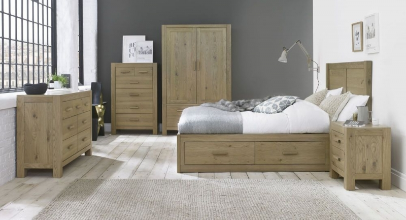 Bentley Designs Turin Aged Oak Wardrobe - Double Large