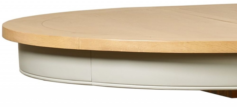 Mark Webster Bordeaux Round Extending Dining Table - Oak and Grey