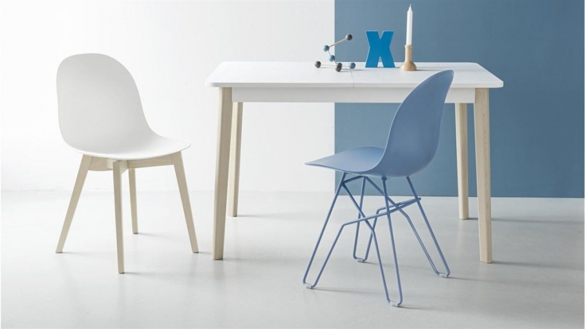 Connubia Academy Metal and Plastic Dining Chair (Pair) CB1664