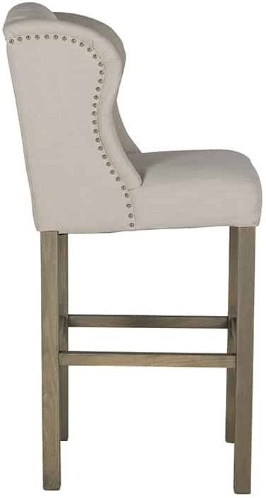 Daisy Fabric Barstool with Silver Nails and Ring