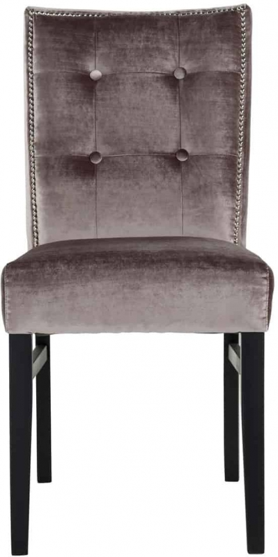 Merrol Fabric Dining Chair with Silver Nails (Pair)