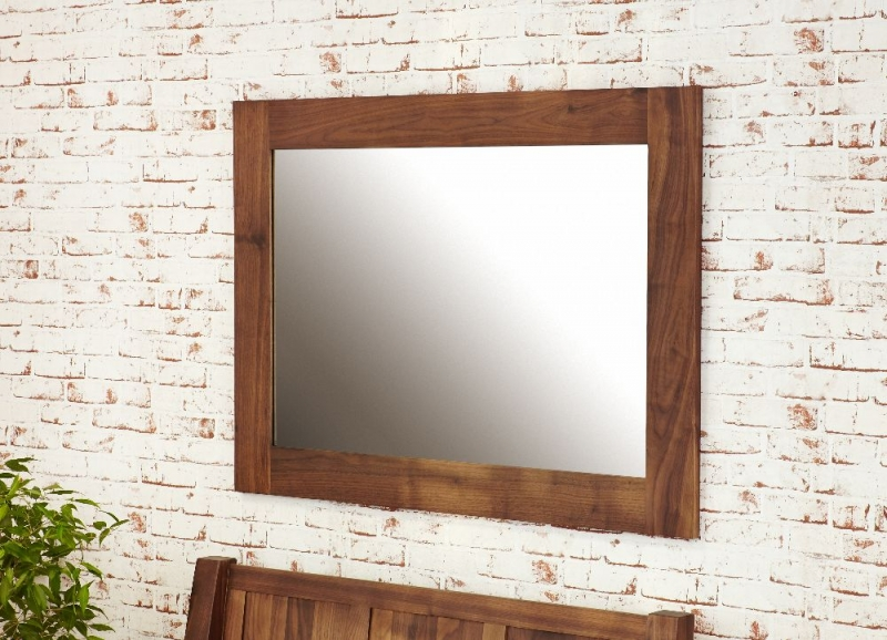 Baumhaus Mayan Walnut Rectangular Mirror - 80cm x 110cm
