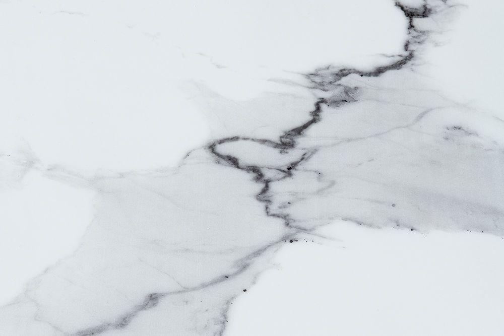 Urban Deco Glacier White Marble and Chrome Console Table