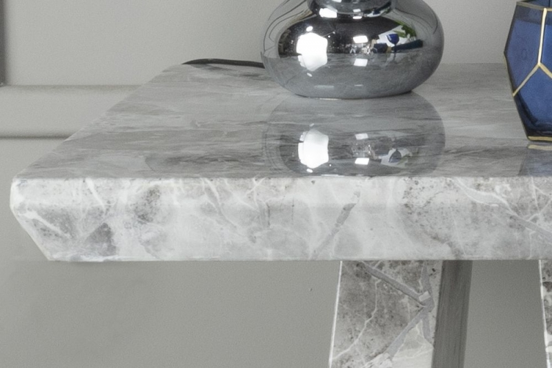 Urban Deco Milan Grey Marble Side Table