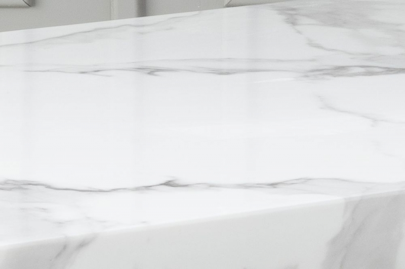 Urban Deco Madrid 200cm White Marble Dining Table