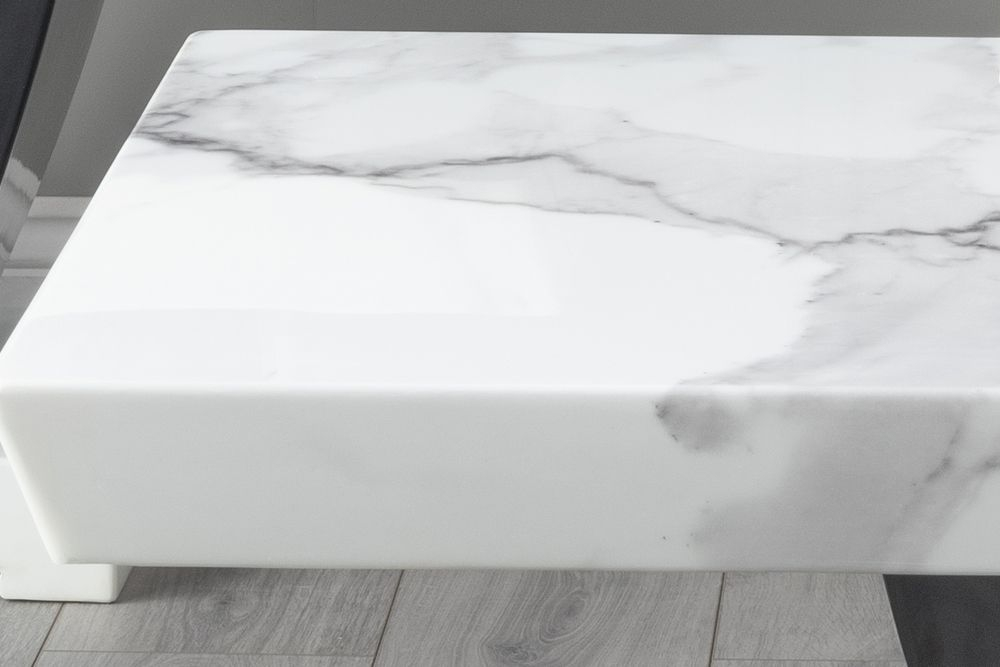 Urban Deco Madrid White Marble Coffee Table