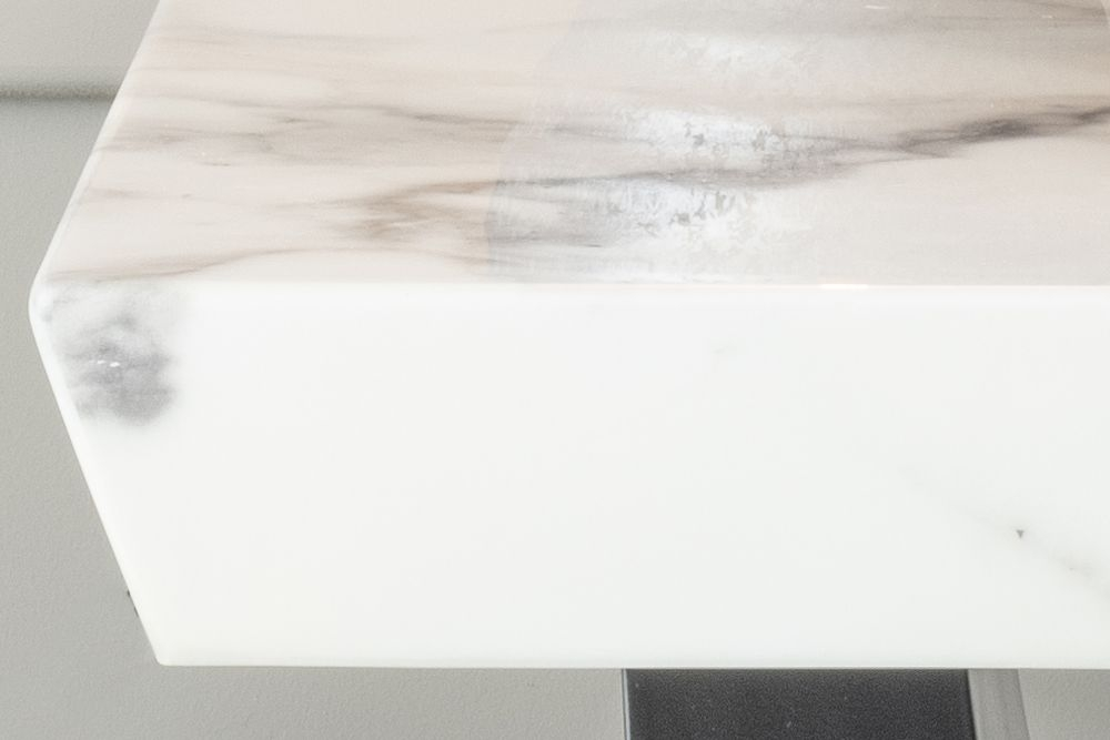 Urban Deco Madrid White Marble Side Table