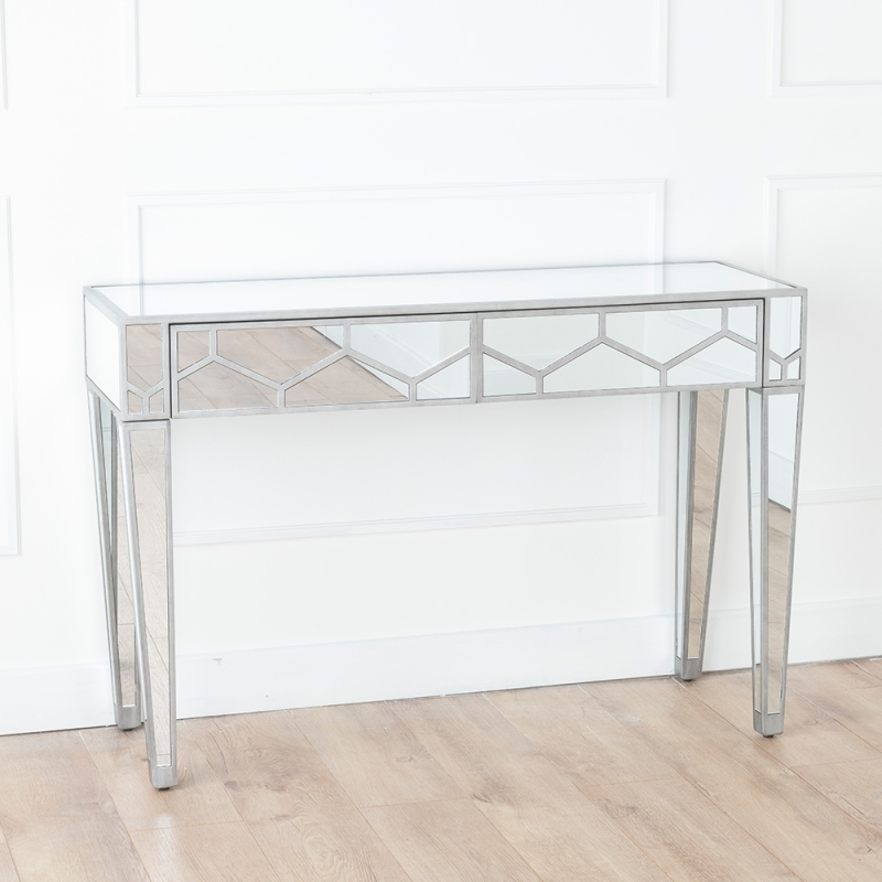 Urban Deco Honeycomb Mirrored Dressing Cum Console Table