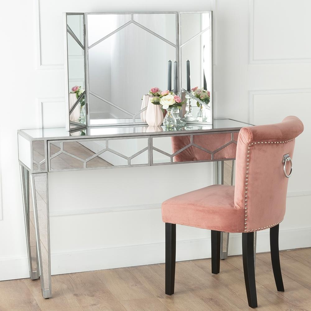 Urban Deco Honeycomb Triple Vanity Mirror