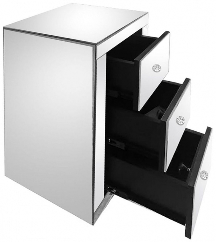 Cape Mirrored Bedside Cabinet