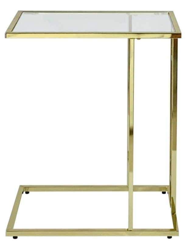 Haxby Glass and Gold Sofa Table