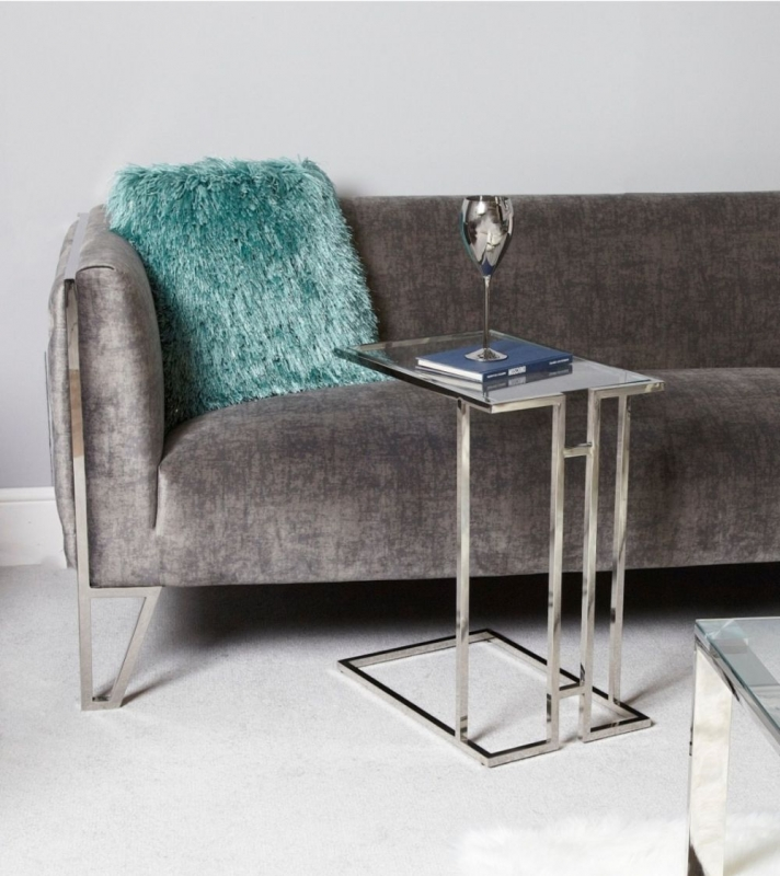 Haxby Glass and Chrome Sofa Table
