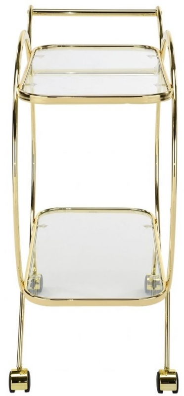 Haxby Glass and Gold Drinks Trolley