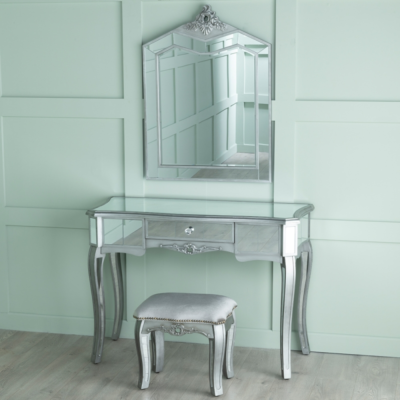 Urban Deco Tiffany French Mirrored Dressing Table