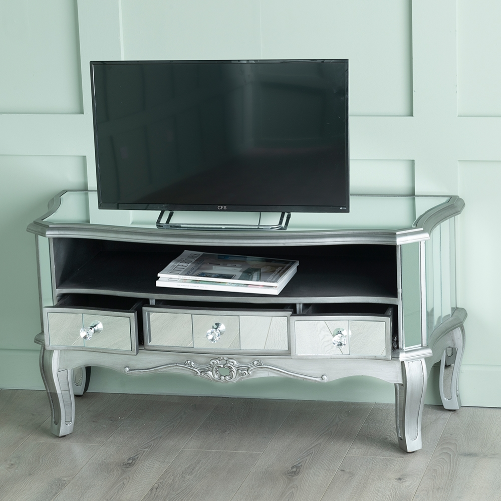 Urban Deco Tiffany French Mirrored TV Unit