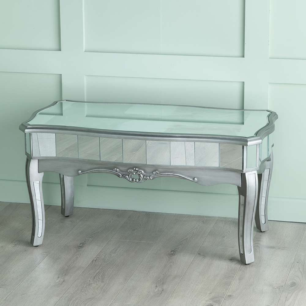 Urban Deco Tiffany French Mirrored Coffee Table