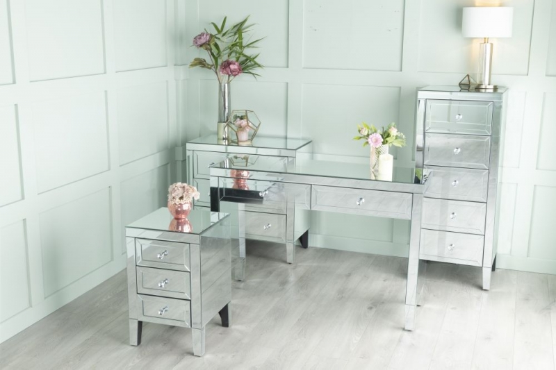 Urban Deco Lucia Mirrored Bedside Cabinet