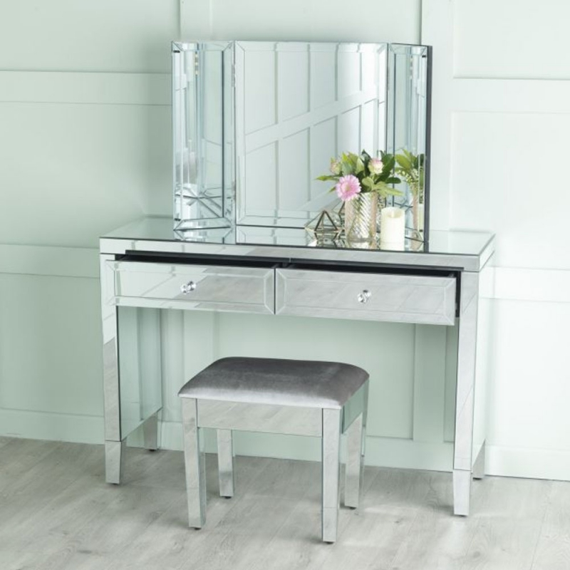 Urban Deco Lucia Mirrored Dressing Table