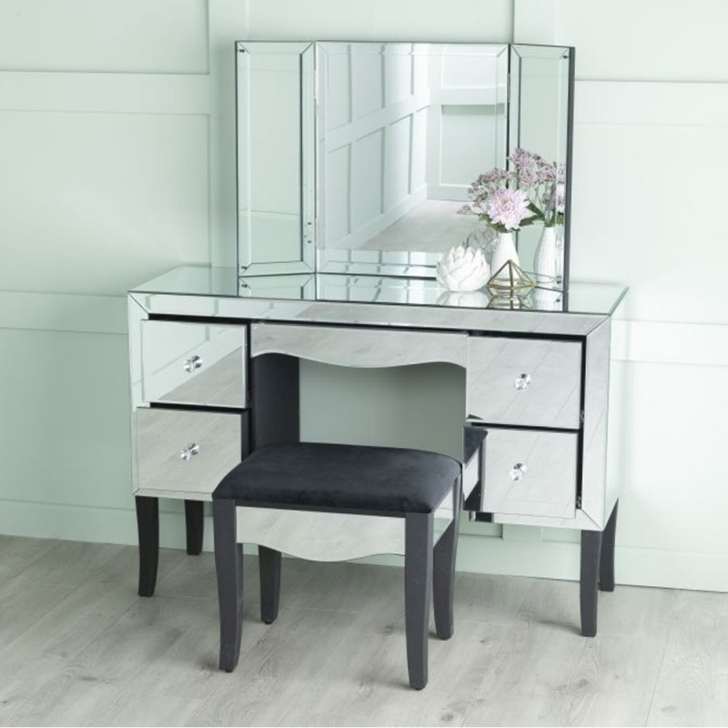 Urban Deco Venetian Mirrored Dressing Table