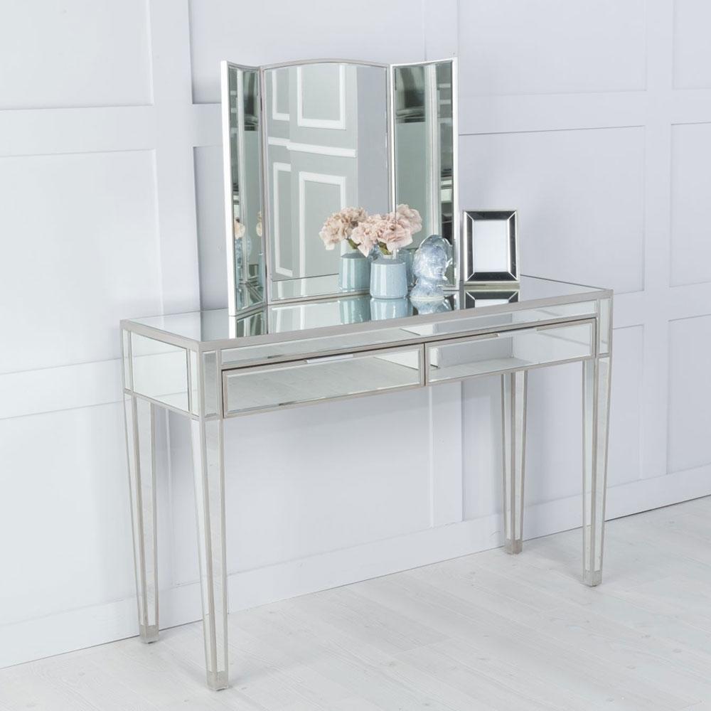 Urban Deco Elysee Pewter Mirror