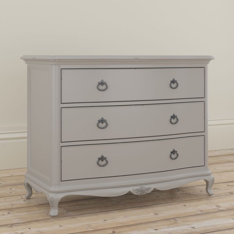 Willis and Gambier Etienne Grey 3 Drawer Low Chest